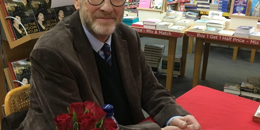 Richard Vaughan-Davies At His Smartly Presented Signing Table