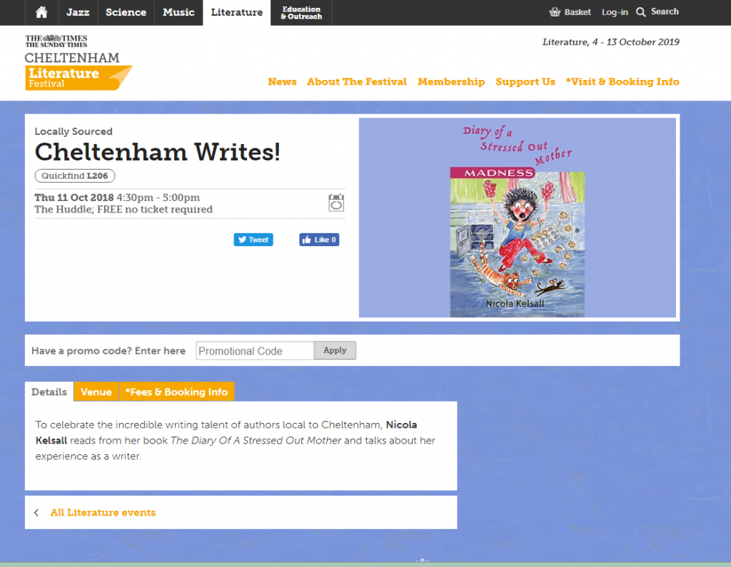 Cheltenham Literature Festival screenshot