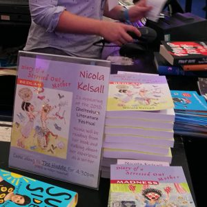 Nicola Kelsall's books on display