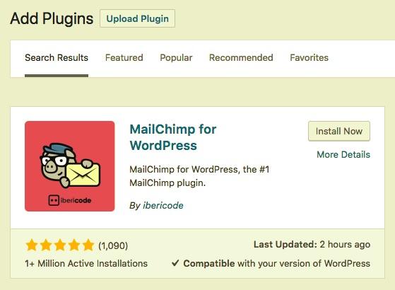 mailing list signup plugin installer