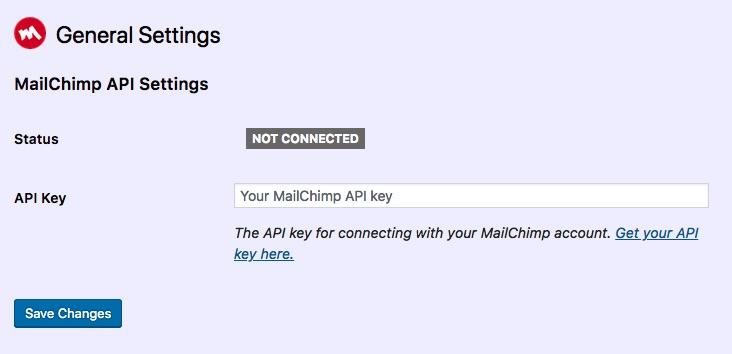 mailing list signups settings