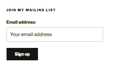 screenshot of the mailing list signups widget in action