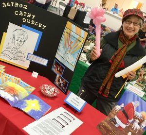 Cathy at her stall at a local event