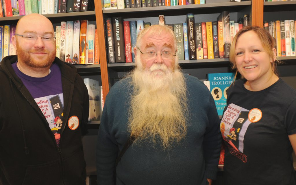 photo of Tom, Peter and Carrie at Book Potato