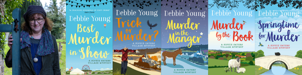 array of seasonal books in Debbie Young's Sophie Sayers series