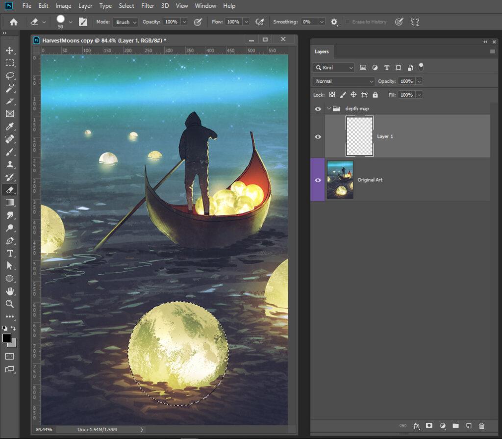 Harvest Moons 3D Photo Setup