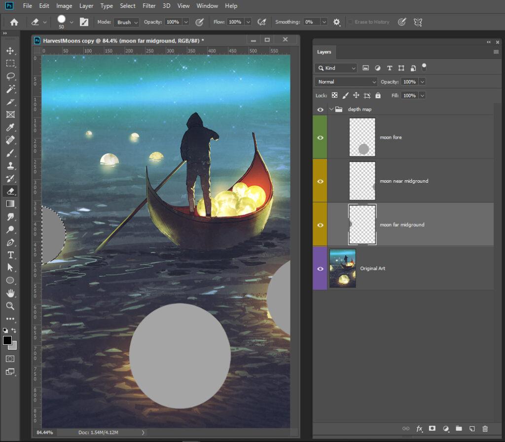Harvest Moons 3D Photo Midfield