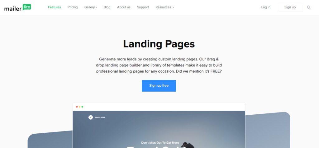 mailerlite landing pages