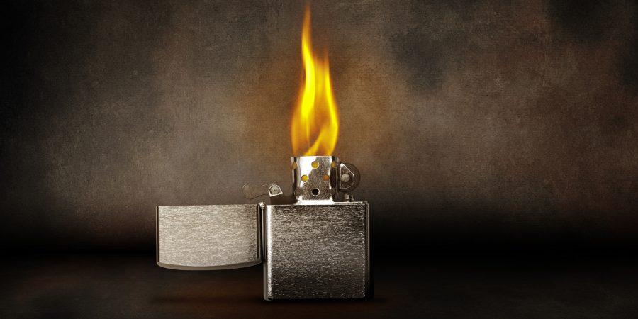 Image: Burning Lighter