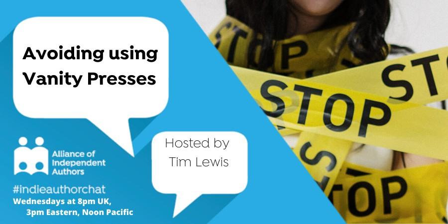 Twitter Chat: Avoiding Using Vanity Presses