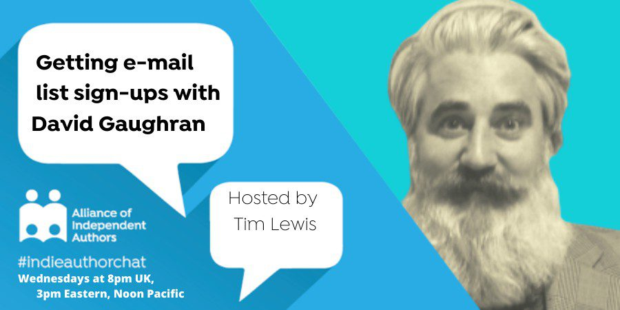 TwitterChat: Getting E-mail List Sign-ups With David Gaughran