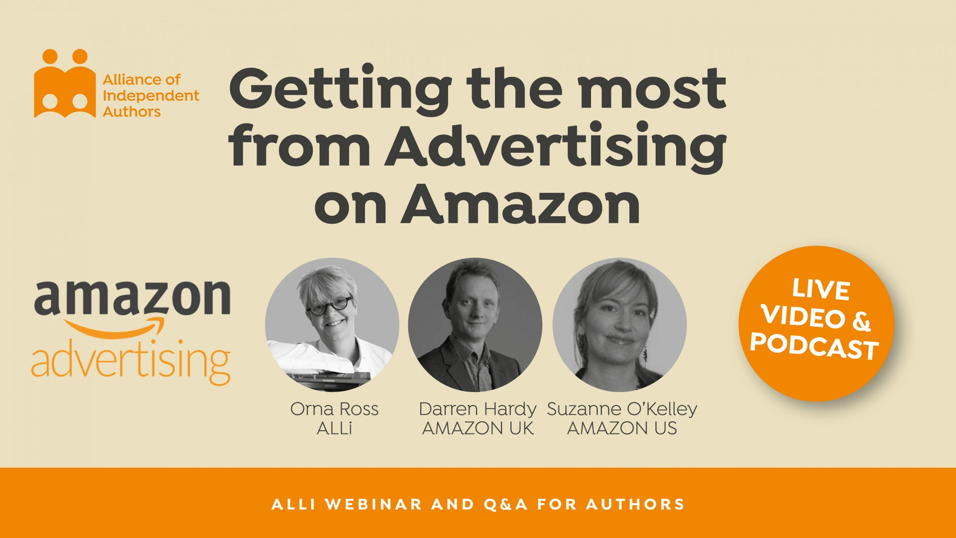 LIVE: Getting The Most From Advertising On Amazon: Advice For Authors