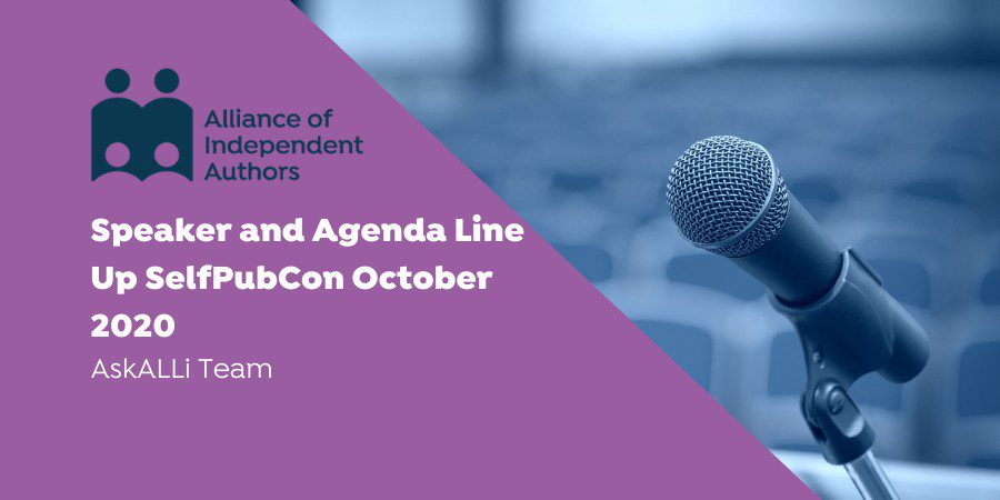 Speaker And Agenda Line Up SelfPubCon October 2020