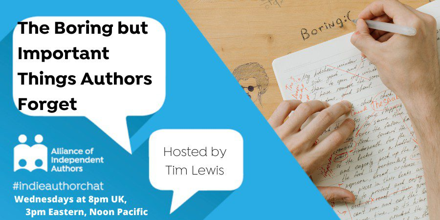 TwitterChat: The Boring But Important Things Authors Forget